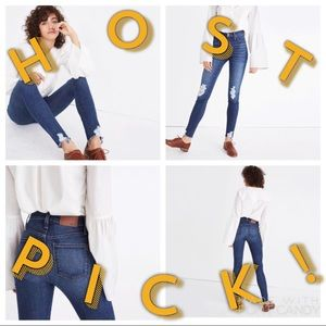 """MADEWELL 9"""" High-Rise Skinny Destructed Edition"""